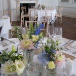 vases the George wedding table