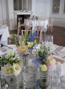 vases the George wedding table