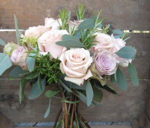 Mixed rose & euc bouquet