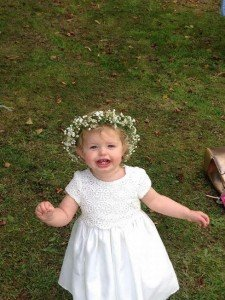 Amy's flower girl