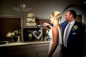 Gemma & Glen - cutting the cake