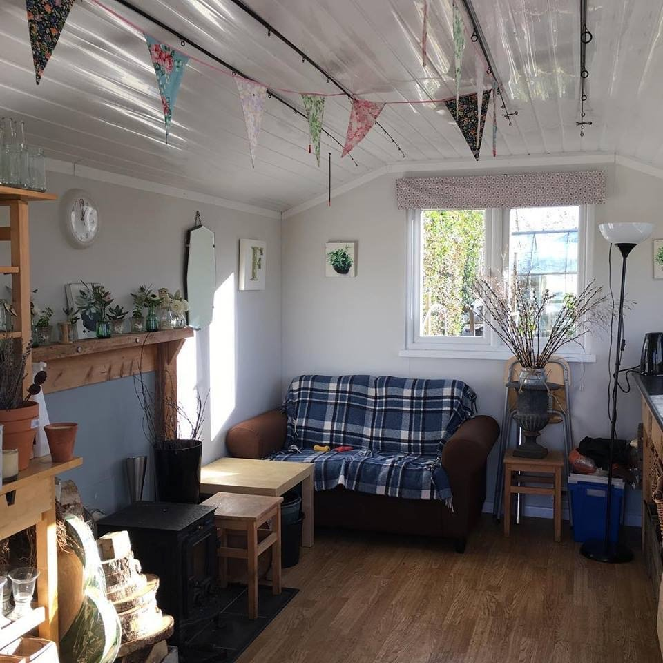 The Flower House studio interior
